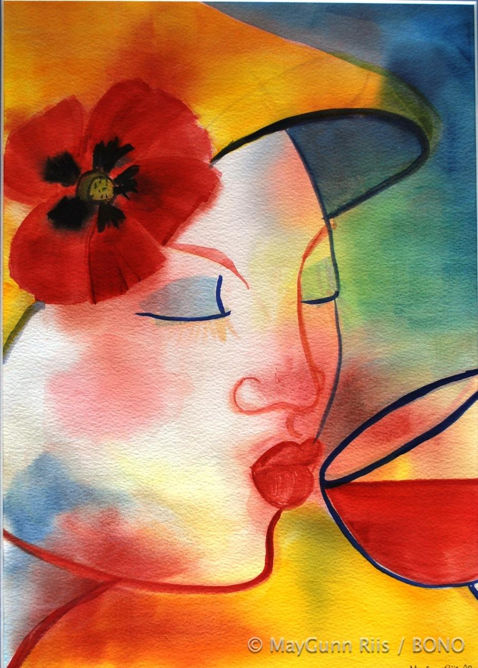vin og gul hatt